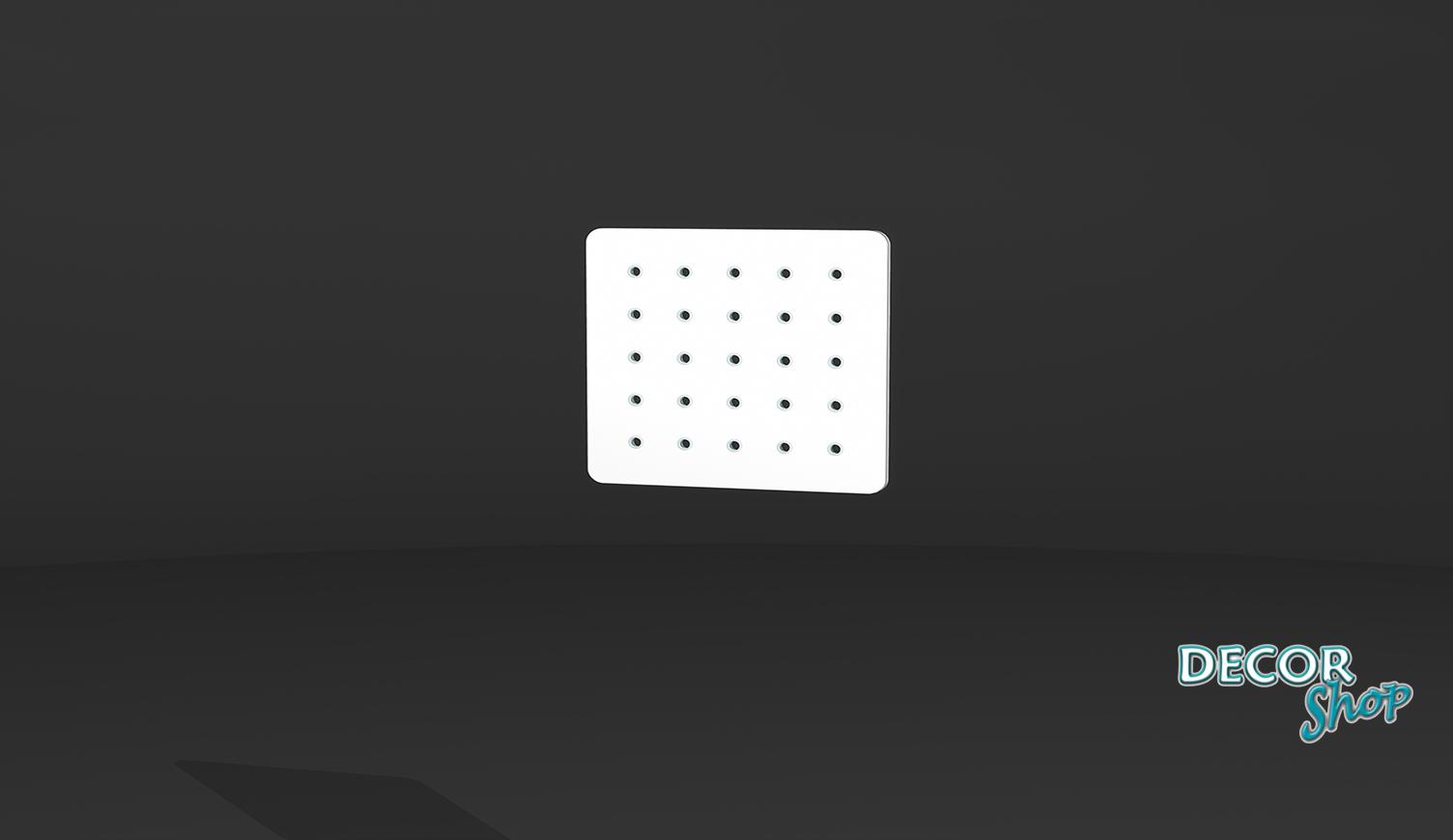 1 - Painel quadrado com botões de acrílico