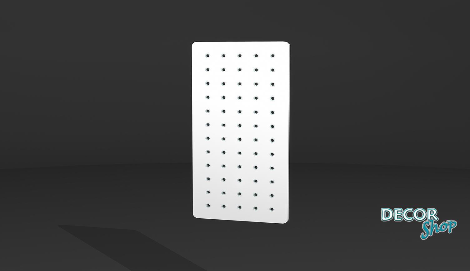 2 - Painel retangular com botões de acrílico