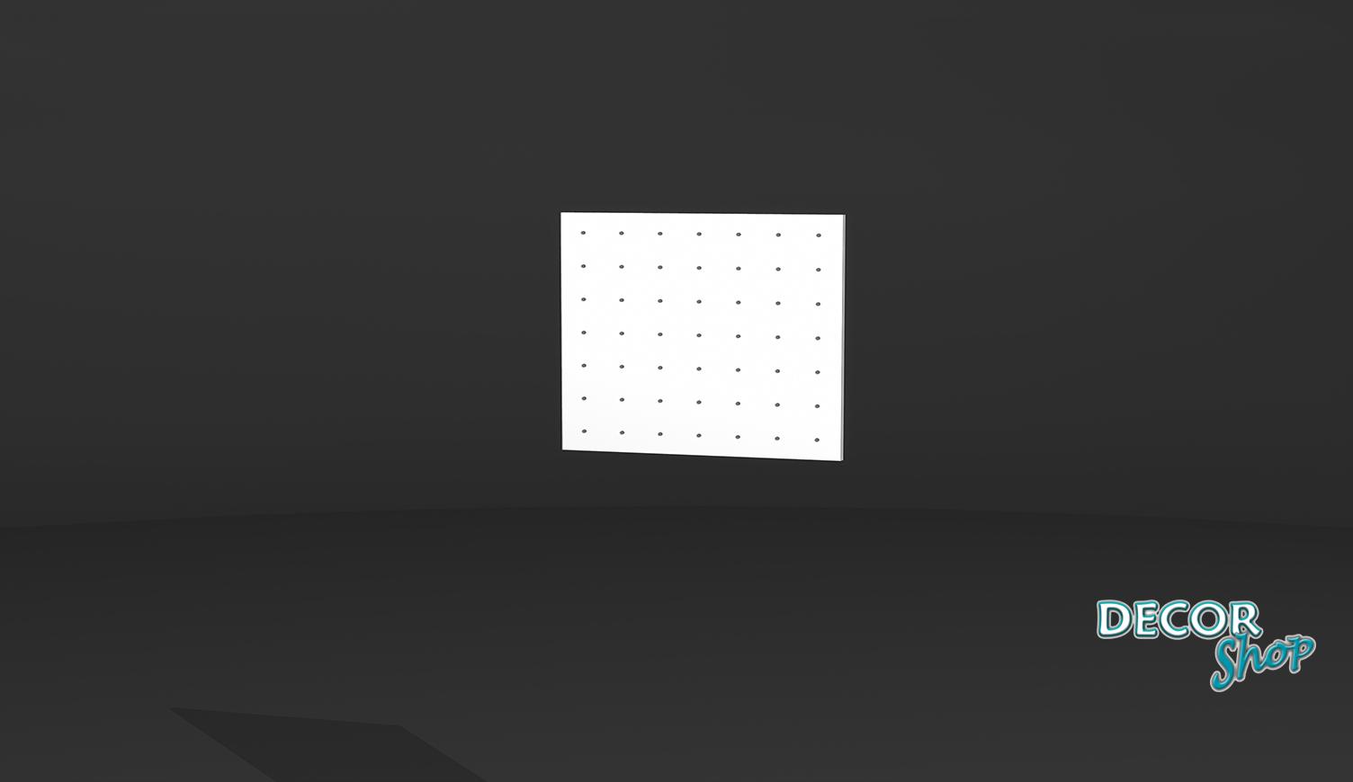 3 - Painel quadrado com Micro Botão