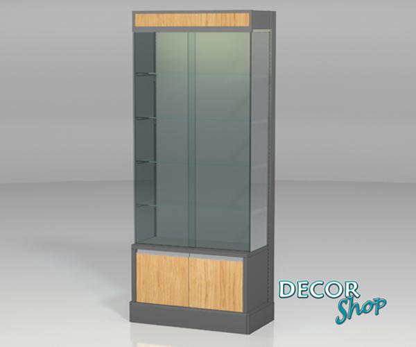 16 - Módulo vitrine com costas em madeira