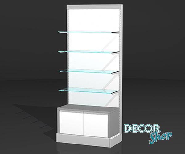 2 - Composição com prateleiras em vidro + Armário