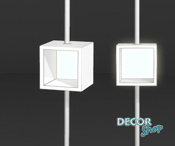 2 - Expositor quadrado com iluminação LED