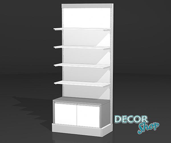 4 - Composição com prateleiras em madeira + Armário