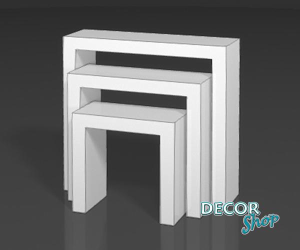 4 - Mesas altas lacadas