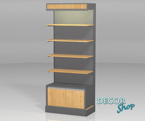 4 - Módulo 4 pts madeira + armário