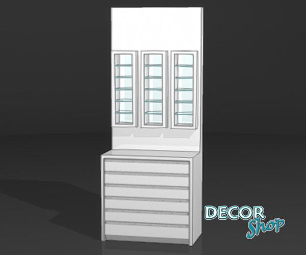 5 - Módulo com 3 expositores retangulares + armário