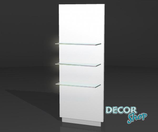 5 - Painel individual com 3 Prateleiras de vidro fixas