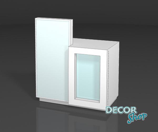 6 - Balcão caixa lateral com alçado iluminado