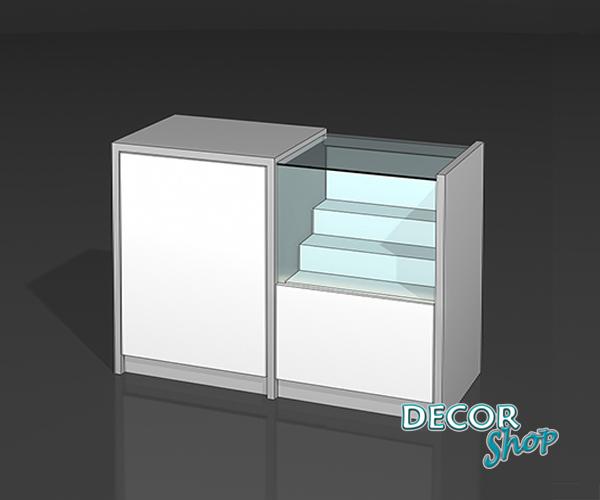 6 - Balcão misto com caixa e degraus - LED