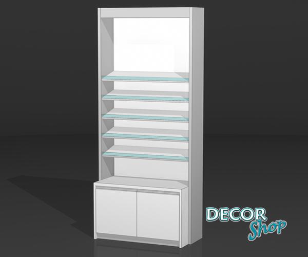 6 - Módulo com 5 prateleiras inclinadas + armário
