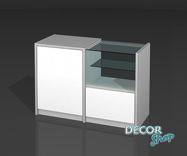 7 - Balcão misto com caixa e exposição - LED
