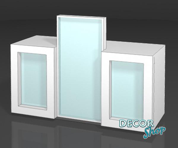 8 - Balcão 2 caixas com 3 alçados iluminados