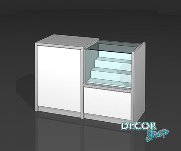 8 - Balcão misto - caixa + exposição de 40 Cm + supl