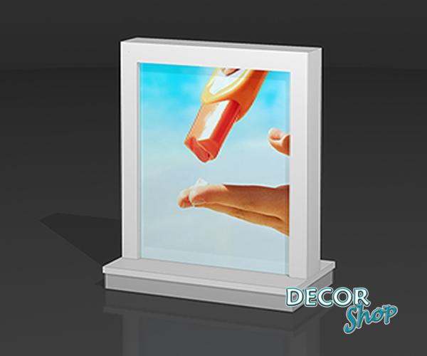 8 - Gôndola de exposição de montra + prateleiras interiores - Frente